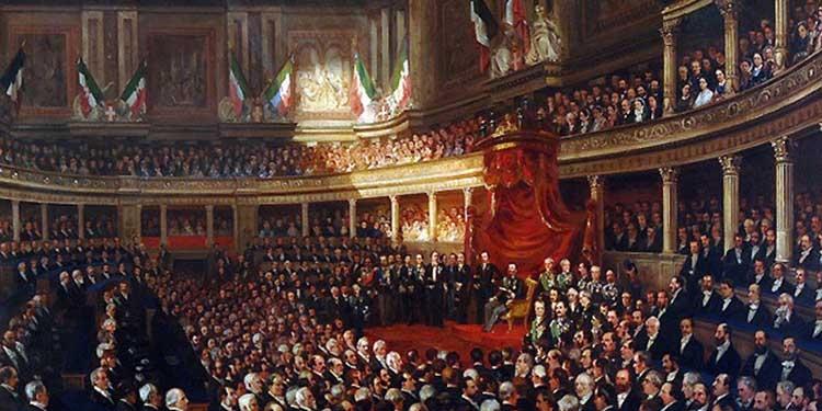 Accadevaoggi si riunisce il primo parlamento dell 39 italia for Storia del parlamento italiano